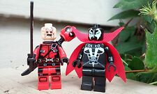 Custom Spawn vs Deadpool Ryan Reynolds Deadpool Movie Minifigure + Lego Brick