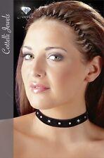 Samt Halsband Strass Klettverschluss Damen Halsschmuck Schmuck schwarz S bis L