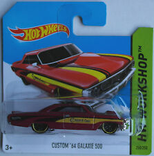 Hot Wheels - ´64 / 1964 Ford Galaxie 500 Custom weinrotmet. Neu/OVP
