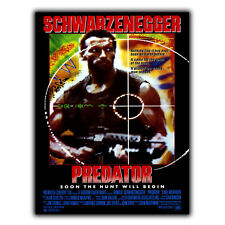 PREDATOR Arnold Schwarzenegger METAL SIGN PLAQUE Film Movie poster mancave decor
