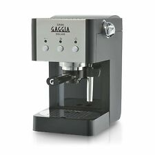 Gaggia Gran Deluxe | Manual Espresso Coffee Machine 15 Bar, Black and Silver