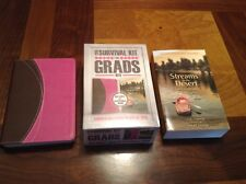 NIV Compact Bible Pink / Brown + Streams In The Desert For Grads - Survival Kit