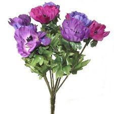 Set DI 2 26CM ARTIFICIALI MULTICOLORE ANEMONE Bush-primavera ed estate fiori