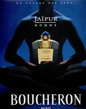Publicité Advertising 1999  Parfum  JAIPUR  eau de parfum pour homme  BOUCHERON