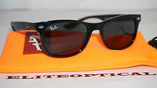 New Authentic RAY BAN JR Wayfarer Black Plastic/Green Childrens RJ9052S 100/71