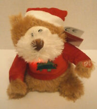 Christmas Animated Singing BROWN BEAR- Dances Lights Sings 8 Different Xmas Song