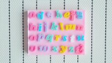 Alphabet Lower Case Letters Silicone Polymer Resin Clay Gum Fondant Candy Mold