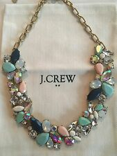 NWT J Crew Women's Mixed Stone Statement Necklace Scenic Aqua $59.50 #F4238