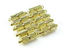 10 Magnetic Clasp Converters - Spiral Style - Gold Color - Jewelry Necklace