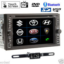 "Double 2 Din 6.2"" HD Car Touch Stereo MP3 DVD Player iPod Radio Bluetooth TV USB"