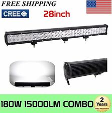 28'' 180W Cree LED Work Light Bar 4X4 SUV Offroad Driving Lamp Spot Flood Combo