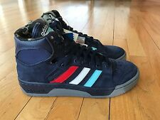 New Adidas Consortium Conductor Hi Packer Shoe Ewing New Jersey Navy Blue Q32536