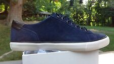 COACH MEN'S PERKINS TRAINER FASHION SNEAKER NAVY SUEDE 8.5M Q4097 NEW IN BOX
