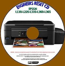 EPSON L130-L220-L310-L360-L365 PRINTER WASTE INK PAD COUNTER RESET SERVICE DISC