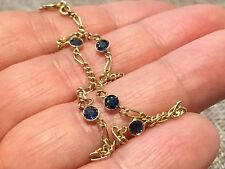 Beautiful, Dainty, Vintage 18 ct gold bracelet with Ceylon  sapphires HM 750