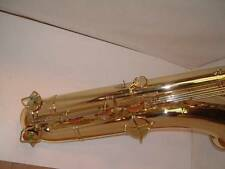 KING ZEPHYR BRASS BARITONE SAXOPHONE WITH FRESH LACQUER FINISH!
