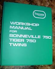 1973-75 Triumph T140, OEM, OIF, Factory SHOP BINDER, Original Paper Wrap