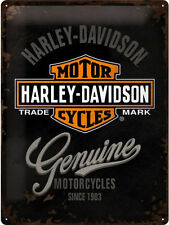 Harley-Davidson Genuine, Chopper Motorcycles Logo, Large 3D Metal Embossed Sign