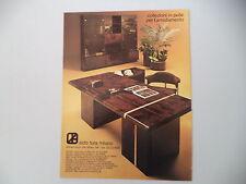 advertising Pubblicità 1979 MOBILI ALDO TURA MILANO