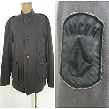 Volcom Scout Jacket Size Large Fortis Explorator Military Gray Suit Coat Blazer