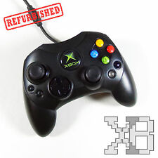Official OEM Microsoft Xbox Original S Type Black Controller Cleaned Tested