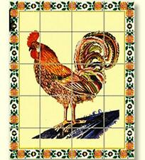 Dollhouse Rooster Picture Mosaic Tile Sheet 34860 World Model Miniatures 1:12