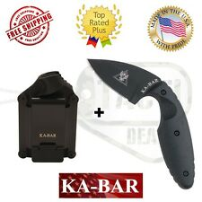 Ka-Bar TDI Law Enforcement Knife Straight Edge Black W/Hard Sheath Included 1480