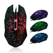6D Buttons LED USB Professional Gaming Mouse 4000 DPI For Desktop PC Laptop Mac
