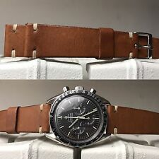 Leather Strap Leder armband bracelet cuir 20 mm for vintage watch chronograph
