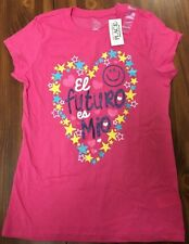 The Children's Place Caddy PiNk Large 10/12 Girls S/S Glitter Blouse Top NWT