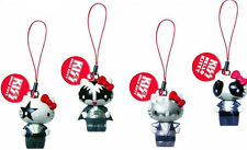 KISS HELLO KITTY DANGLERS KEYRING PHONE CHARM GACHAS SET OF 4 HEADS WITH BODIES