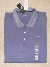 Calvin Klein Performance Golf Shirt Mens XXL EEG Lifestyle Sport Mini Stripe New