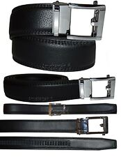 Lot of 2. Men's belt. Leather Dress Belt Automatic Lock New buckle up to 43""