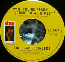"""* * STAPLE SINGERS 1973 UNPLAYED MINT """"IF YOU'RE READY"""" TOP 10 HIT CANADIAN 45!"""