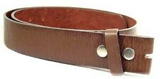 Genuine cowhide leather snap on belt strap in Brown, .Large size. For Buckles