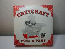 Greycraft Cast Iron Mini Dollhouse Pots & Pans 5 pc set Grey Iron Casting Co USA