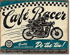Cafe Racer Do The Ton Metal Sign Large Vintage Motorcycle Garage Tin Plaque 2033