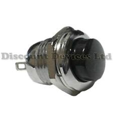 Quality Momentary SPST Push Button Switch  Metal/Black