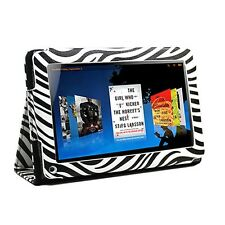 Animal Zebra Print PU Folio Folding Leather Case Cover for Amazon Kindle Fire 7""