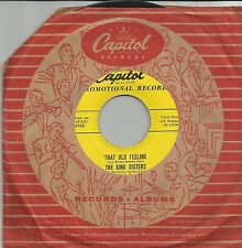 THE KING SISTERS That old feeling US PROMO SINGLE CAPITOL