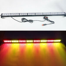 "32 LED 35.5"" Emergency Traffic Advisor Flash Strobe Light Bar Warn Bar Red/Amber"