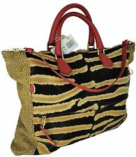 BORSA A SPALLA DONNA ZEBRATA BORBONESE PELLE SERPENTE WOMAN BAG MULTICOLOR 95461