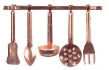 Dollhouse Miniature Copper Kitchen Utensil Set