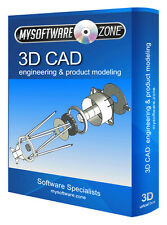 3D CAD Parametric Modeling Software CD for PC Import & Export Autodesk DXF files