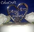 Mirrored Acrylic Personalised Wedding cake topper decorations SWAROVSKI CRYSTAL