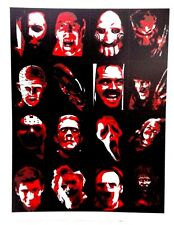 Horror Movie Icons Vector Art Decal/Sticker Freddy Leatherface PinHead Jason
