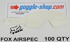 100 qty GOGGLE-SHOP MOTOCROSS TEAR OFFS to fit FOX AIRSPACE GOGGLES flippers NEW