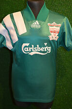 "LFC LIVERPOOL ADIDAS 1992-93 AWAY CENTENARY SHIRT (BOYS 26-28"" S) JERSEY RETRO"