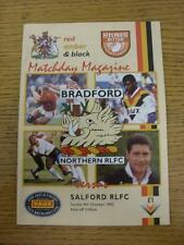 04/10/1992 Rugby League Programme: Bradford Northern v Salford. This item is in