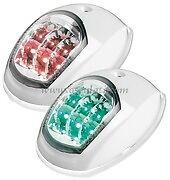 LED Evoled Navigation Port & Starboard Lights 12v White